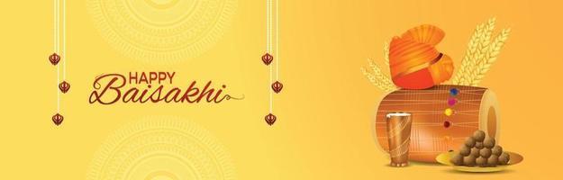 Happy Vaisakhi Indain Sikh Festival Feier Banner