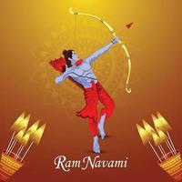 Ram Navami Grußkarte oder Banner vektor