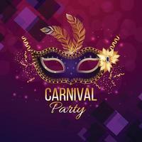 Karnevalshintergrund mit kreativer realistischer Maske vektor