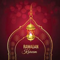 ramadan kareem islamisk bakgrund med lykta
