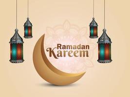 Ramadan Kareem oder Eid Mubarak Hintergrund vektor