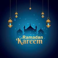 islamisches Festival Ramadan Kareem Hintergrund vektor