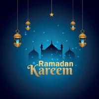 islamisk festival ramadan kareem bakgrund vektor