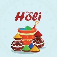 Happy Holi Flat Design Konzept Hintergrund