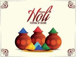glückliches holi indian Festival flaches Designkonzept vektor