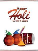 Happy Holi Feier Flyer oder Poster