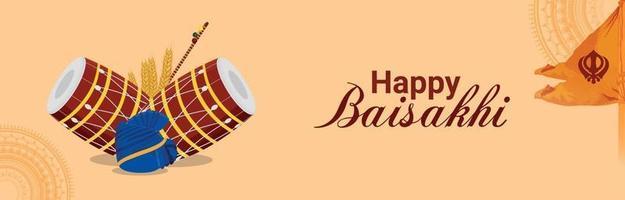 glad vaisakhi platt design eller banner koncept