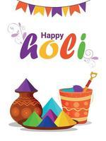 kreatives Plakat von happy holi mit kreativen Elementen