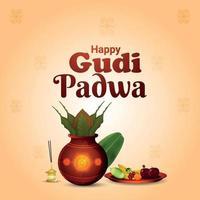 gudi padwa sydindisk festivalbakgrund