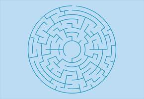 Kreis Labyrinth. Labyrinth für Kinder. abstraktes quadratisches Labyrinth. vektor