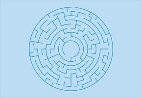cirkel labyrint. labyrint för barn. abstrakt fyrkantig labyrint. vektor