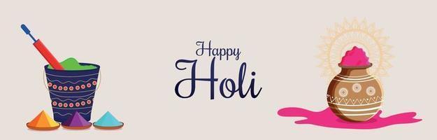 Happy Holi Hinduismus Banner oder Header
