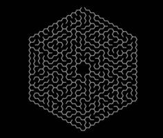 sexkantig labyrint. labyrint för barn. vektor