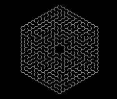 sechseckiges Labyrinth. Labyrinth für Kinder. vektor