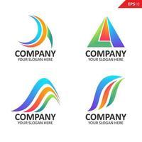Sammlung bunte Initiale ein Brief Logo Design-Vorlage