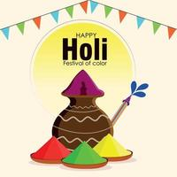 Happy Holi Indian Festival Feier Hintergrund