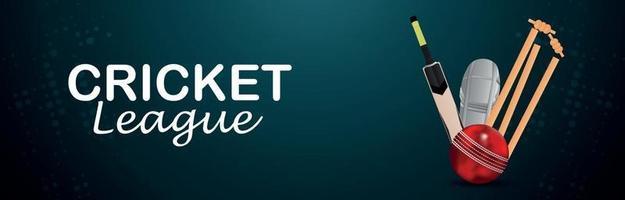 Cricket-Liga-Banner mit Illustration