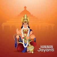 kreative Illustration von Lord Hanuman mit Hintergrund