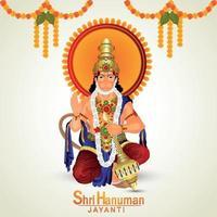 Hanuman Jayanti Feier mit Lord Hanuman Illustration