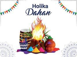 Holika Dehan Grußkarte mit realistischem Knochenfeuer