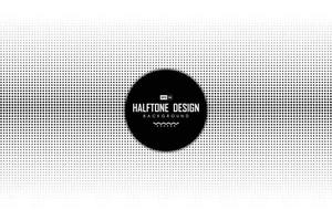 abstrakt svart prick halvton dekoration på vit bakgrund. illustration vektor eps10