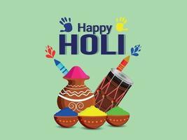 lycklig holi hinduisk indisk festivalbakgrund