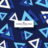 abstrakt triangel mönster design av blå täcka mall presentation bakgrund. illustration vektor eps10