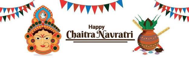Happy Navratri Feier Banner oder Header