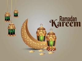 ramadan kareem firande bakgrund med islamisk lykta och måne
