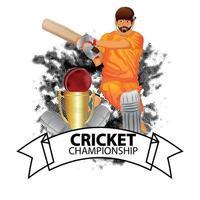 cricket turnering match koncept med stadion och cricket utrustning