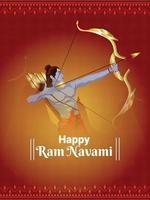 Ram Navami Feier Poster oder Flyer vektor