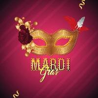 Karneval-Party-Grußkarte und Hintergrund vektor
