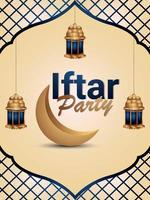 iftar Party Flyer oder Poster vektor