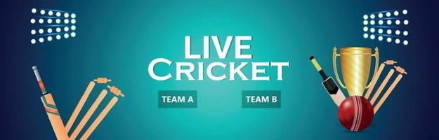 cricket live turnering match med trofé