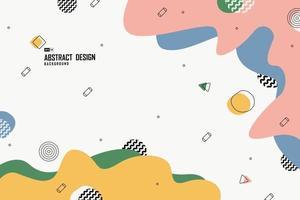abstraktes Memphis-Muster des minimalen Entwurfsgrafikhintergrunds. Illustrationsvektor eps10