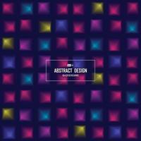 abstrakt minimal färgglada av science tech fyrkantiga levande bakgrund. illustration vektor eps10