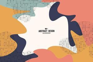 abstrakt färgglatt minimum av dekorativ konstverkbakgrund för grungedesign. illustration vektor eps10