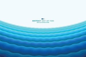 abstrakt blå vågig havsdesign av minimalt mönsterperspektiv för rubrikbakgrund. illustration vektor eps10