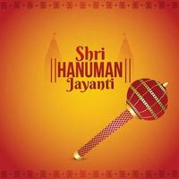 kreative Illustration des indischen Festivals von Lord Hanuman Jayanti