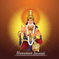 kreativ illustration av Lord Hanuman Jayanti Indian Festival
