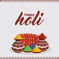 illustration av färgglad reklambakgrund för festivalen av färger firande