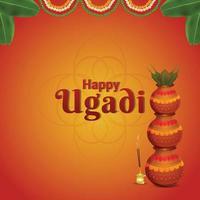 kreative Kalash von glücklichem Gudi Padwa Hintergrund