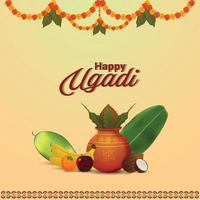 Illustration des Gudi Padwa Festivals von Indien vektor