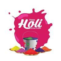 Happy Holi Feier Hintergrund vektor