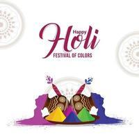 Holi indian traditionelles Festival Grußkarte und Hintergrund