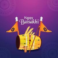 lycklig vaisakhi sikh festival med kreativ illustration