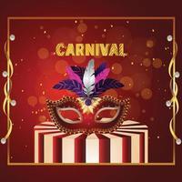 Karneval Brasilien Event mit kreativer Maske vektor