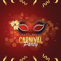 beliebtes Ereignis im Hintergrund der Karnevalsparty in Brasilien vektor