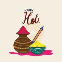 glückliche holi Grußkarte, holi indian Festivalhintergrund vektor