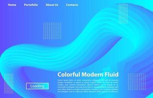 bunte moderne flüssige Hintergrund-Entwurfsvorlage 3d für Landingpage, Banner, Plakate, Umschlag usw. vektor
